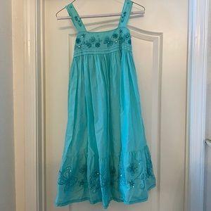 Gap butterfly sequin bead dress